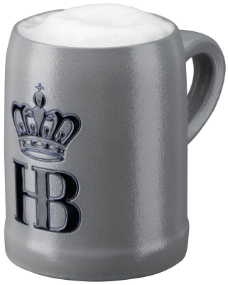 German Beer Mug - Hofbrauhaus Munich Logo Salt Glazed .5L