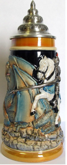 Knight Fighting Dragon LE Beer Stein .5L