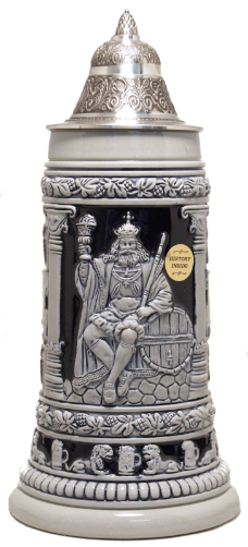 Gambrinus LE Blue Relief German Beer Stein .75L