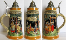 Dancing Celebration LE Relief German Beer Stein .5 L