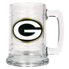 Green Bay Packers 15 oz. Glass Mug