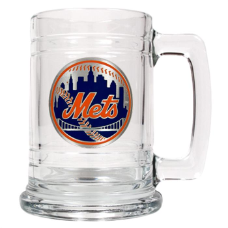 New York Mets 15 oz. Glass Mug