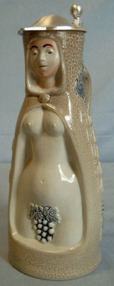 "German Beer Stein ""Wine Witch"""