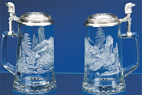 Bald Eagle Glass Stein