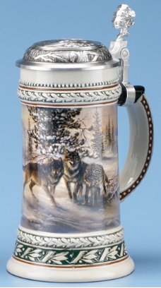 German Beer Stein - Wolf