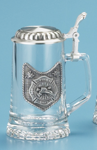 Glass Beer Stein - Fire Deparment