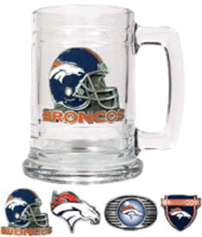 Denver Broncos 15 oz.  Glass Mug