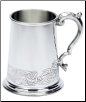 Fancy Celtic Design Fine English Pewter Tankard