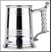 Monk Rope Handle English Pewter Tankard
