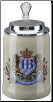 German Beer Stein - Hofbrauhaus Munich Lion Crest .5L