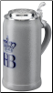 Hofbrauhaus Munich Logo Lidded Salt Glazed 1L