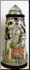 3-D Neuschwanstein Castle LE German Beer Stein .7L