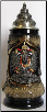 Black and Gold Eagle Crest Souvenir Beer Stein .125L