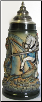 Knight on Horseback Fighting a Dragon LE Beer Stein .5 L