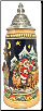 Santa Claus Riding His Sleigh with Reindeer LE Christmas German Beer Stein .5 L