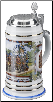 Munich Horse Team Porcelain German Beer Stein .5 L