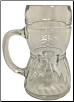 Woman's Dirndl Dress Glass Drinking Beer Mug Cup .5 L