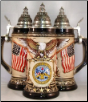 US Army Rustic Beer Stein .75L