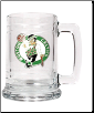 Boston Celtics  Logo on a 15 oz. Glass Tankard