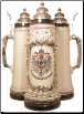 German Beer Stein - 2L Deutschland Eagle