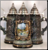 Black Garmisch Germany Shield German Beer Stein .5L
