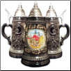 Stuttgart Black Shield German Beer Stein .25L