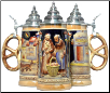 German Beer Stein - Pretzel Bakery with Pretzel Handle .5L