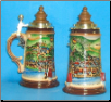 German Beer Stein - LE -  Medieval Heidelberg Stein with Wood Lid .5L