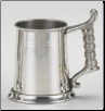 Rope Handle Fine English Pewter Tankard .5L