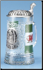 Wales Welsch Glass Beer Stein