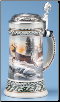 Deer & Fox Hunter's Beer Steins