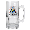 Miami Marlins Oversized Glass Beer Mug
