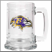 Baltimore Ravens 15 oz Glass Mug