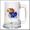 Kansas Jayhawks Glass Mug