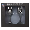Oakland Raiders Wine Glass Set