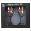 Cleveland Browns Wine Glass Set