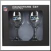 Seattle Seahawks Wine Glass Set