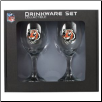 Cincinnati Bengals Wine Glass Set
