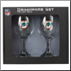 Miami Dolphins Wine Glass Set