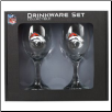 Denver Broncos Wine Glass Set