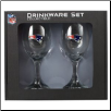 New England Patriots Wine Glass Set