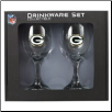 Green Bay Packers Wine Glass Set
