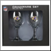 Baltimore Ravens Wine Glass Set