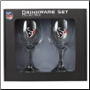 Houston Texans Wine Glass Set