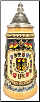 Rustic Deutschland Germany Shield Cities with Crests LE  .25L
