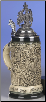 Rustic Deutschland Germany with Pewter Eagle Lid LE  .5 L