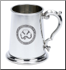 Irish Shamrock Clover Fine English Pewter Tankard