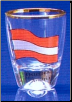 4 piece Austria Flag Shot Glass Set