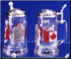Glass Beer Stein - Canada