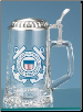 Glass Beer Stein - US Coast Guard